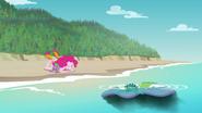 Rarity's beach blanket sinks into the water EGFF