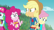 Pinkie shrugging confused at Applejack EGFF