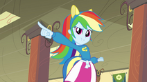 Rainbow Dash singing make a change EG