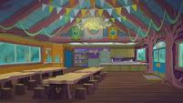 Legend of Everfree background asset - Camp Everfree cafeteria