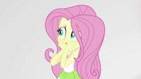 Fluttershy startled by Pinkie Pie EGS3