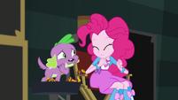 Pinkie Pie quickly nodding in agreement EGS2