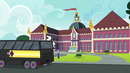 Crystal Prep buses arrive to Canterlot High EG3