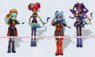 Friendship Games Sporty Style Shadowbolts dolls