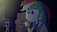 Rainbow Dash grinning excitedly EGS2