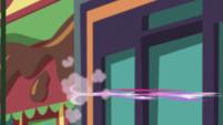 Pinkie Pie speeding off-screen EGS2