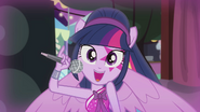 Twilight holding a microphone EG2