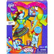 Rainbow Rocks Rainbow Dash Doll and Pony Set packaging