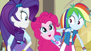 Pinkie pops out from behind Rainbow Dash EG3