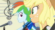 Rainbow and Applejack singing Better Than Ever EG2