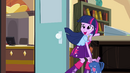 Twilight hides Spike in her bag EG