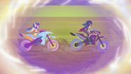 Rainbow Dash and Indigo Zap racing EGFF