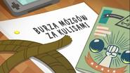 EG COYA07 WZ7 Karta tytułowa do odcinka ''Burza mózgów za kulisami'' (polska wersja dubbingowa)