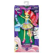 Friendship Games School Spirit Fluttershy doll packaging