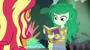 Wallflower Blush opening her yearbook EGFF