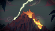 EGS2 Burza na tle wulkanu