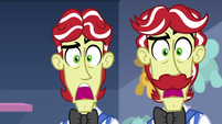 Flim and Flam with mouths agape EGROF