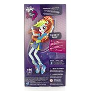 Friendship Games School Spirit Rainbow Dash back of packaging