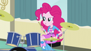 Curious Pinkie at the drums EG3