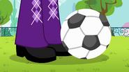 Soccer ball rolls next to Twilight's feet EG