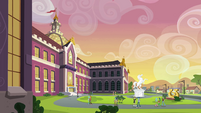 Canterlot High School exterior shot 2 EG