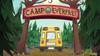 EG4 Autobus przejeżdza przez bramę obozu