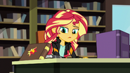 Sunset Shimmer looks at her journal EG3