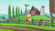 Applejack singing on a barn EG2