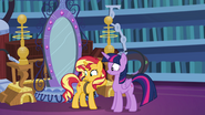 Sunset Shimmer looking embarrassed EGFF