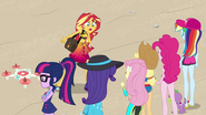 Sunset trying to reason with her friends EGFF