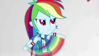 Rainbow speedily defends herself from raining almonds EGS3