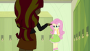 Sunset Shimmer bullying Fluttershy EG