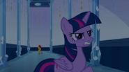 Twilight annoyed by Sunset's teleport EG