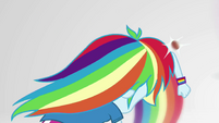 Rainbow Dash deflects a falling almond with her arm EGS3