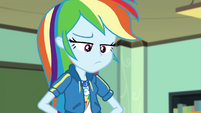 Rainbow Dash looking annoyed at Twilight EGDS22