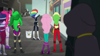 Cloaked figure sneaks up on the Mane Seven EGS2