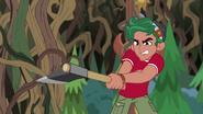 EG4 Timber próbuje ściąć pnącza