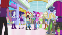 Starlight and Mane Seven surrounded by witnesses EGS3