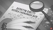 EG COYA06 06 WZ6 Karta tytułowa do odcinka ''Detektyw Rarity Historia zaginionego buta'' (polska wersja dubbingowa)