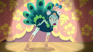 Lyra dressed as a peacock EG3