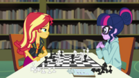 Twilight and Sunset having a chess game EGDS6