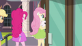 AJ, Pinkie, and Fluttershy enter the school EG3.png