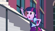 Twilight hanging onto stair rail EG
