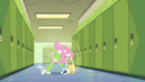 Fluttershy scoops up her animal friends EG