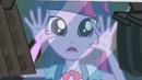 Twilight pressing hands against vending machine EG