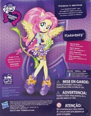 Friendship Games Sporty Style Fluttershy doll back of packaging