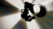 Rainbow Dash airborne silhouette EG2