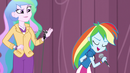 Rainbow Dash snatches the microphone EG3