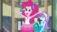 Pinkie Pie pushing the school doors open CYOE3