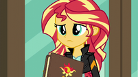 Sunset Shimmer closes her journal EG3